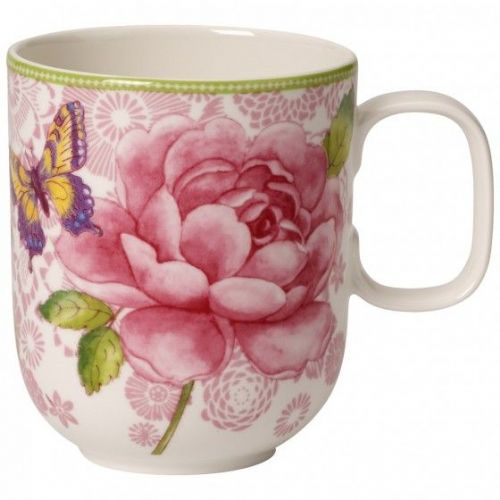 Rose Cottage Mug - Pink